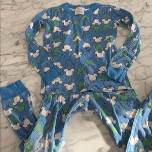 Hanna Andersson blue Mickey Mouse pajamas size 120